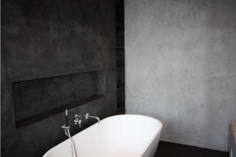Concrete design by plastermade onze innovatie pm liss - Moderne badkamer betegelde vloer ...